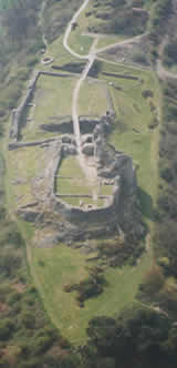 Arial view of Montgomery castle.